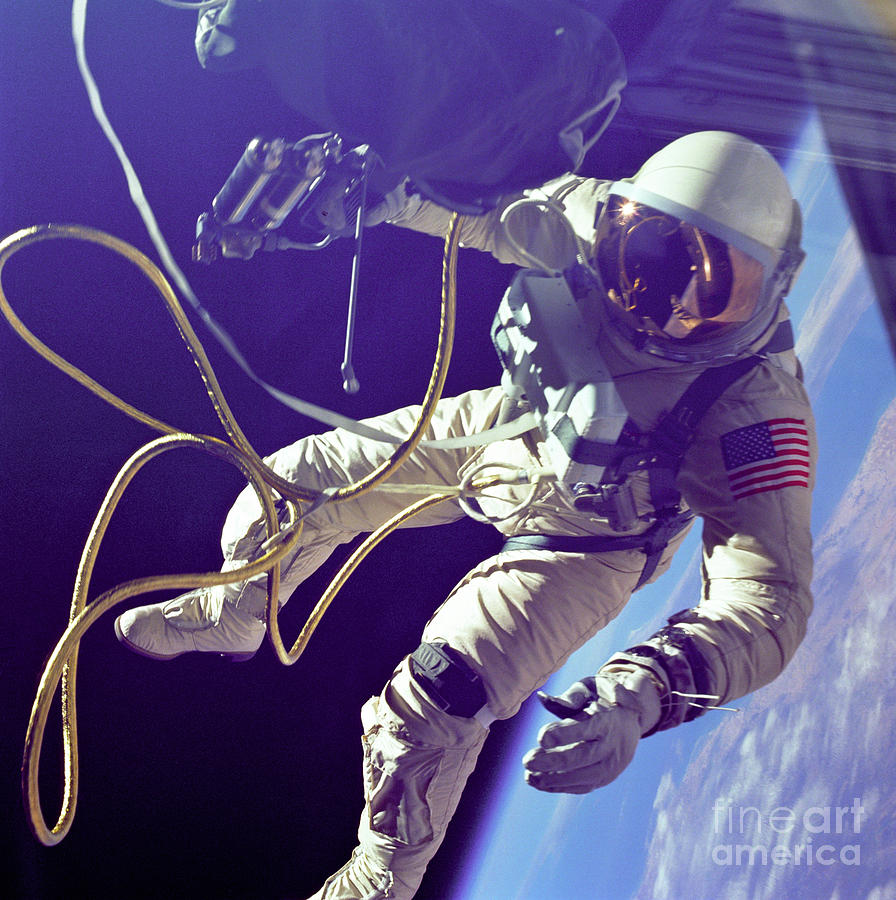 First American Walking In Space, Edward Photograph