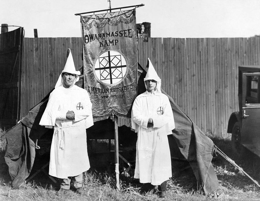 First Arrivals Of The Ku Klux Klan Photograph