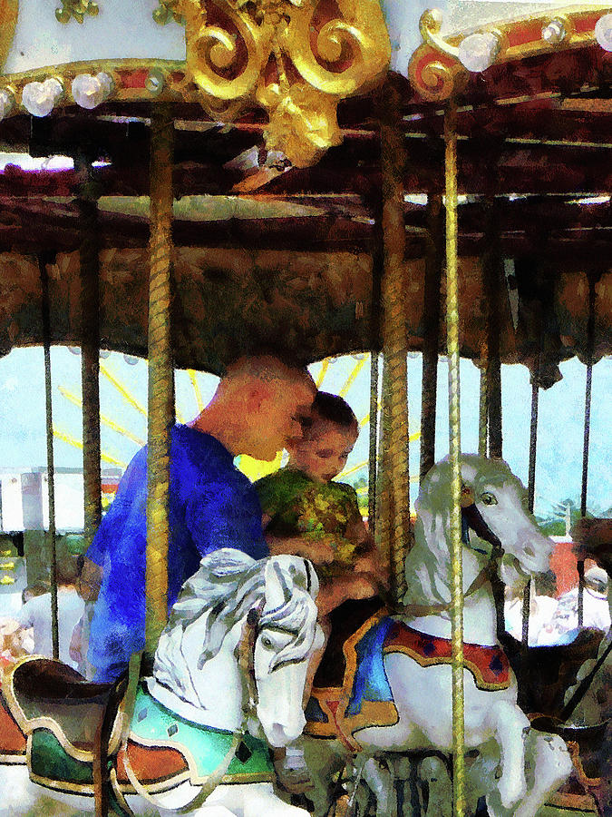 First Carousel Ride Photograph  - First Carousel Ride Fine Art Print