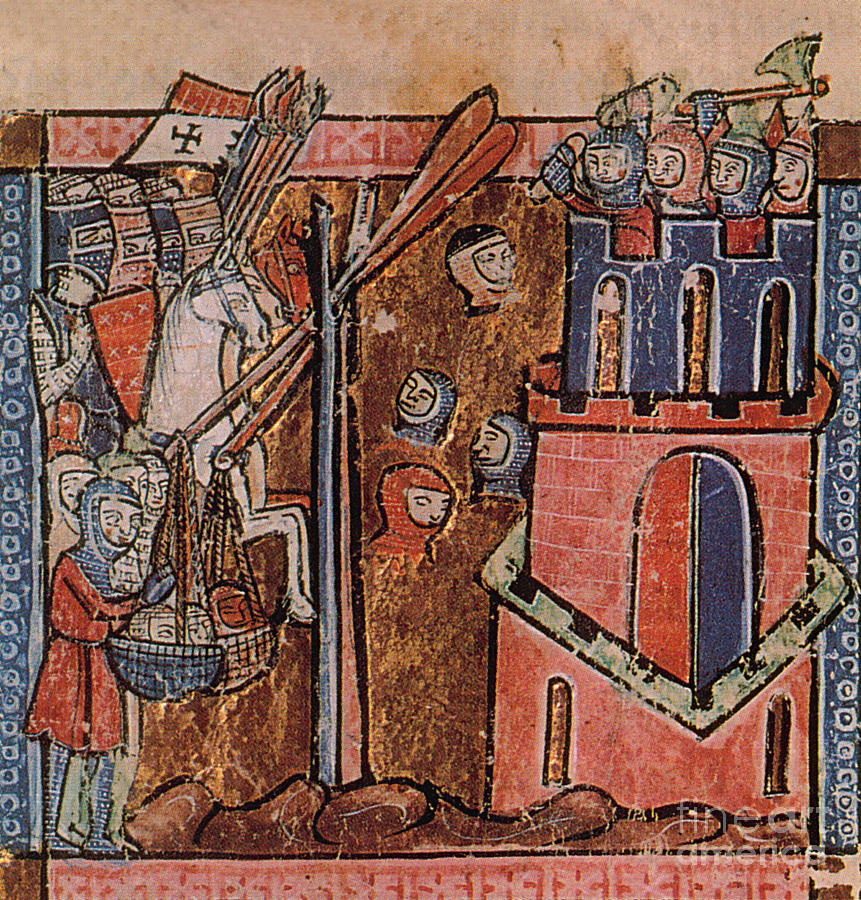History Photograph - First Crusade Germ Warfare Siege by Photo Researchers