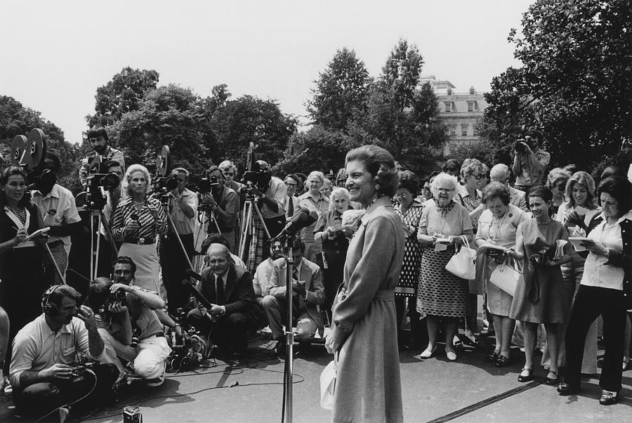 History Photograph - First Lady Betty Ford Holds An by Everett