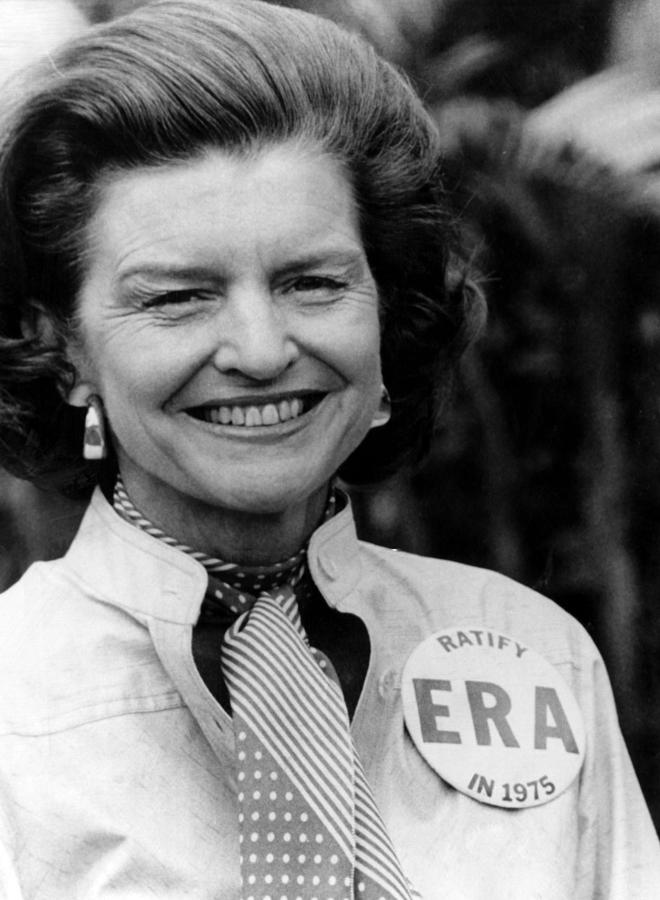 First Lady Betty Ford Wears A Badge Photograph  - First Lady Betty Ford Wears A Badge Fine Art Print