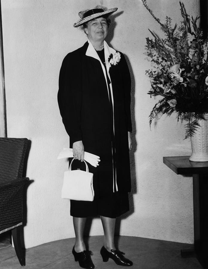 First Lady Eleanor Roosevelt, Wearing Photograph  - First Lady Eleanor Roosevelt, Wearing Fine Art Print