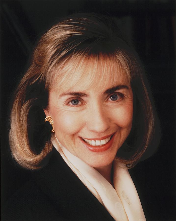 First Lady Hillary Clinton In A 1992 Photograph  - First Lady Hillary Clinton In A 1992 Fine Art Print