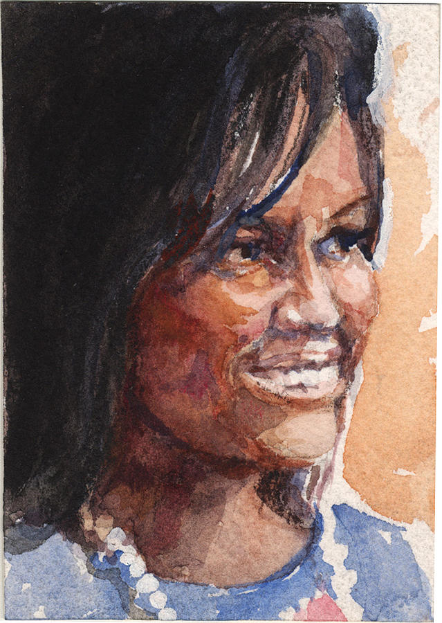 First Lady In Blue Painting