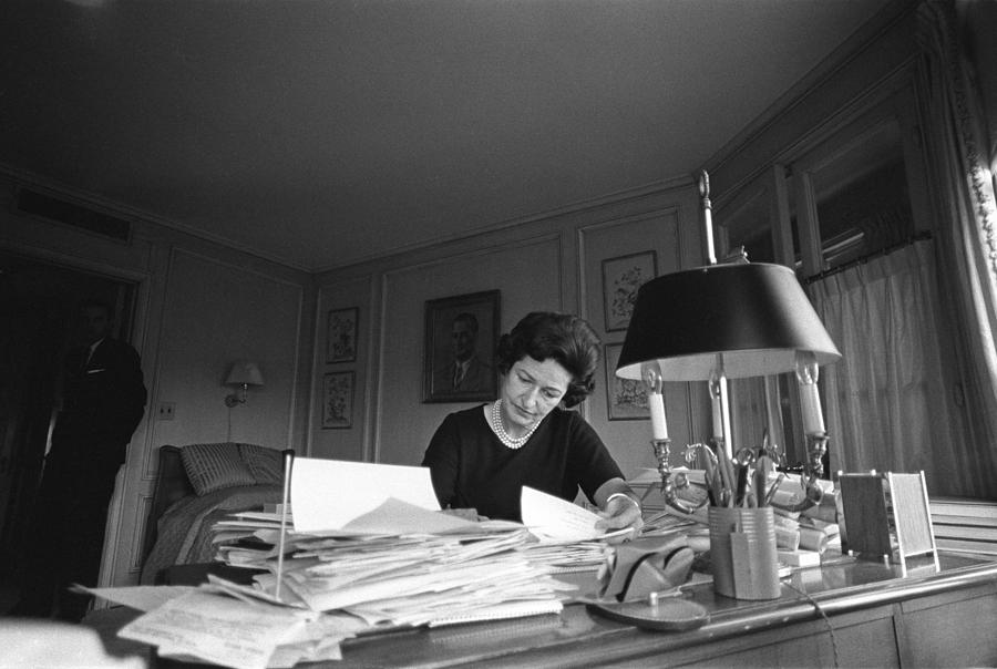 First Lady, Lady Bird Johnson, Working Photograph