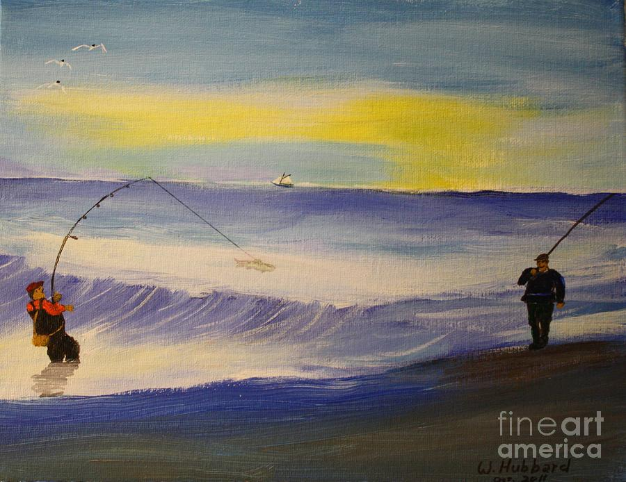 First Light First Wave First Fish Painting  - First Light First Wave First Fish Fine Art Print