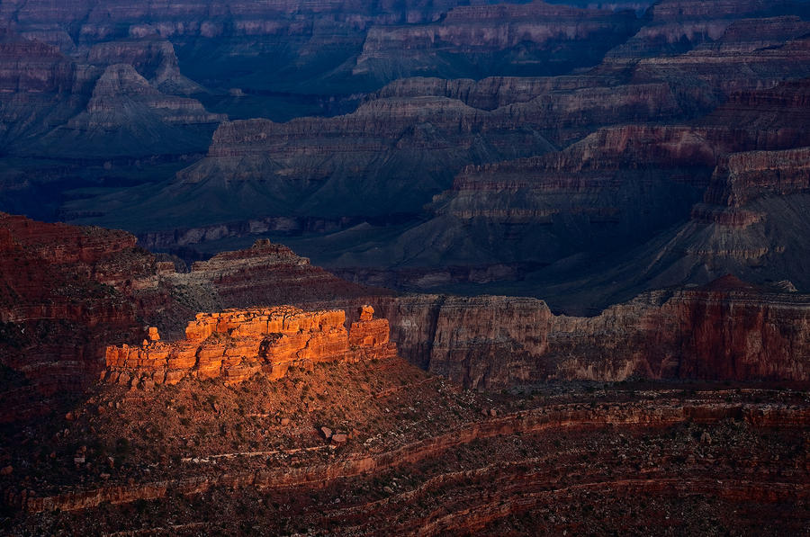 First Light Over Yavapai Point  Grand Canyon Photograph