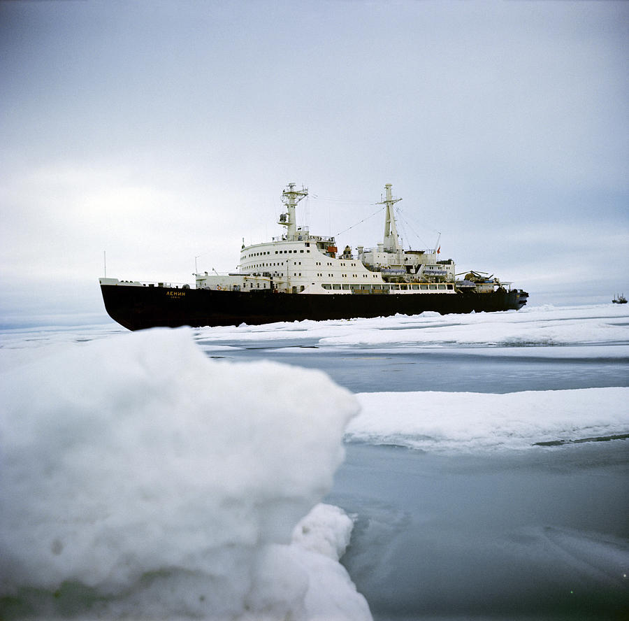First Nuclear-powered Ship, Ns Lenin Photograph  - First Nuclear-powered Ship, Ns Lenin Fine Art Print