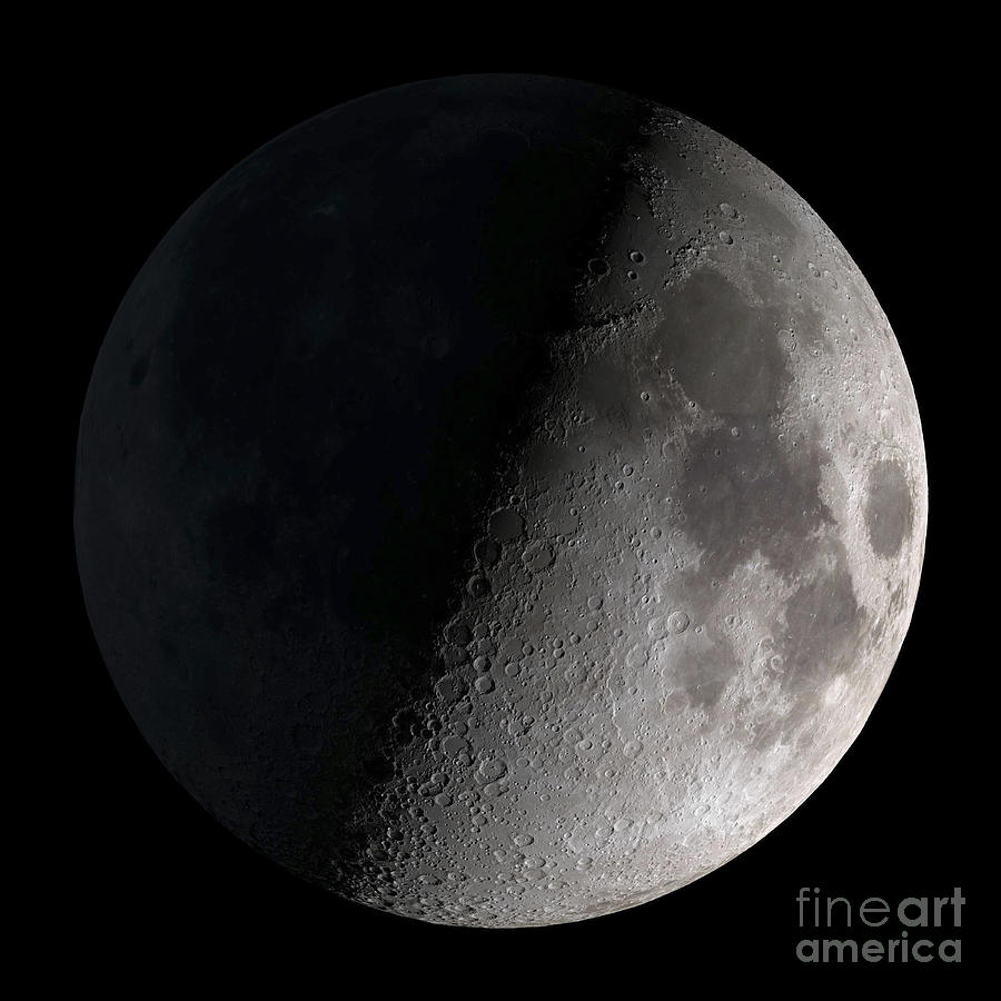 First Quarter Moon Photograph