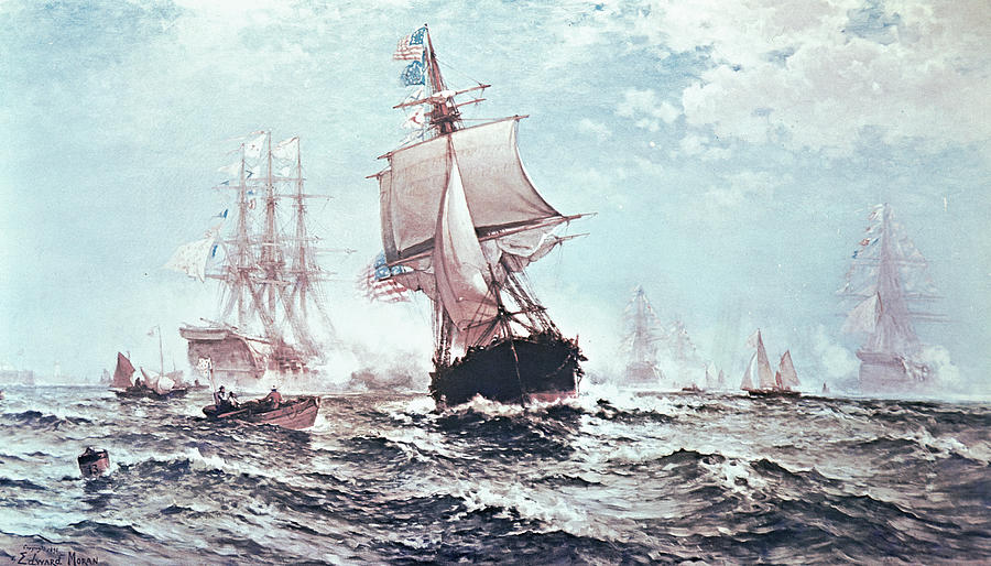 First Recognition Of The Stars And Stripes Painting