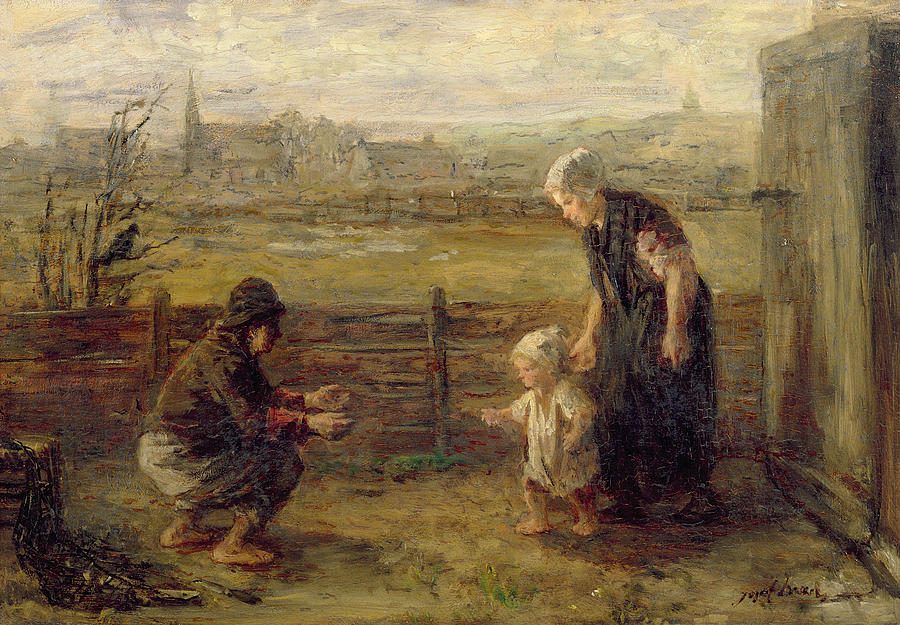First Steps Painting By Jozef Israels