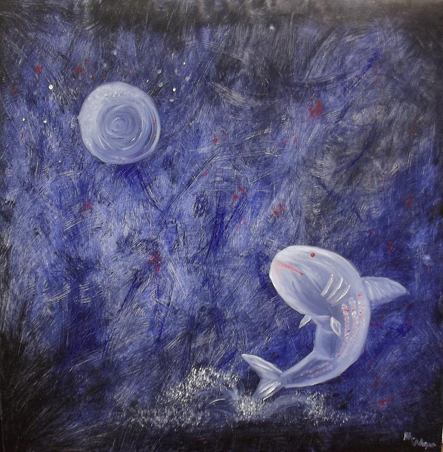 Image result for moon fish painting