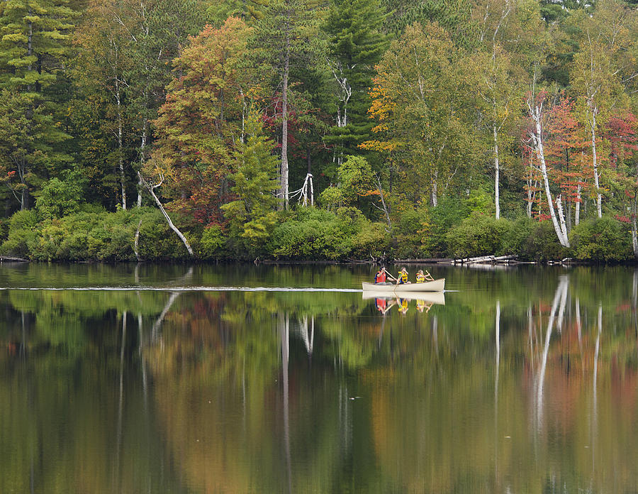 fish creek pond in adirondack park new york photograph