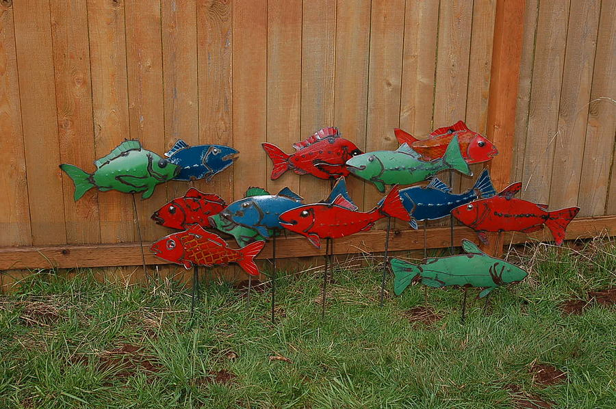 Fish From Cars Sculpture