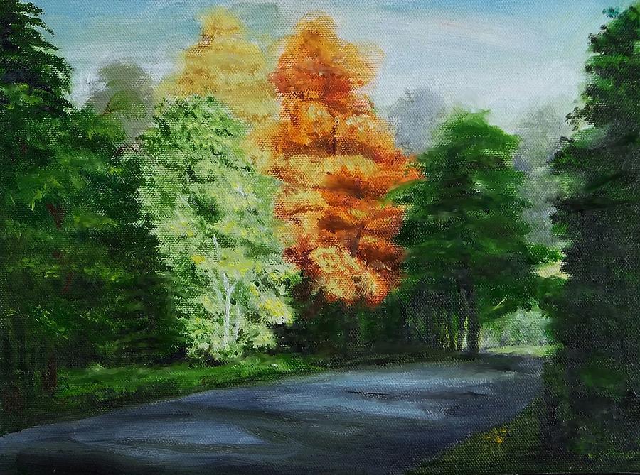 Fish trap lake drive painting by bob newman for Fish trap lake mn