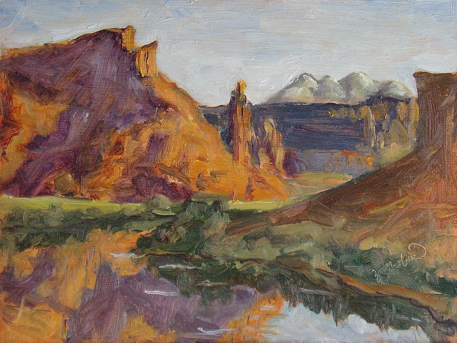 Fisher Tower Castle Valley Moab Utah Painting