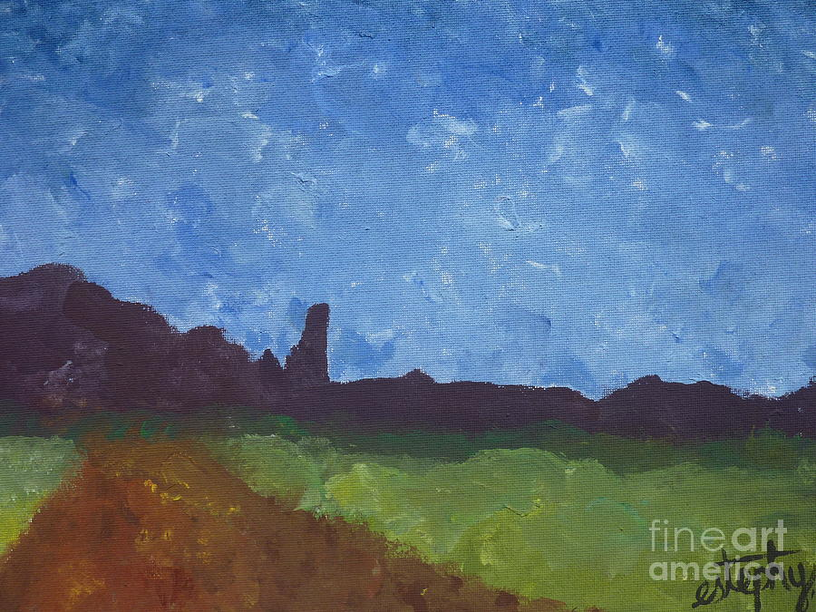 Fisher Towers Painting  - Fisher Towers Fine Art Print