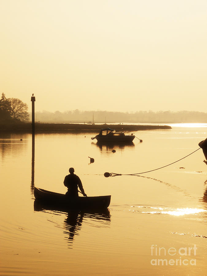 Fisherman On Lake Photograph