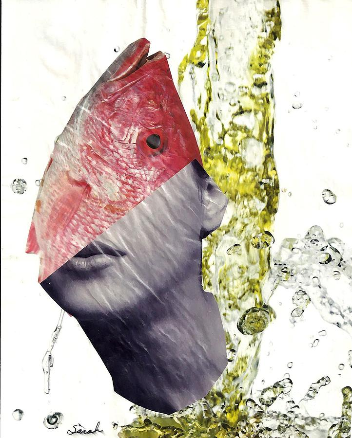Fishhead Mixed Media  - Fishhead Fine Art Print