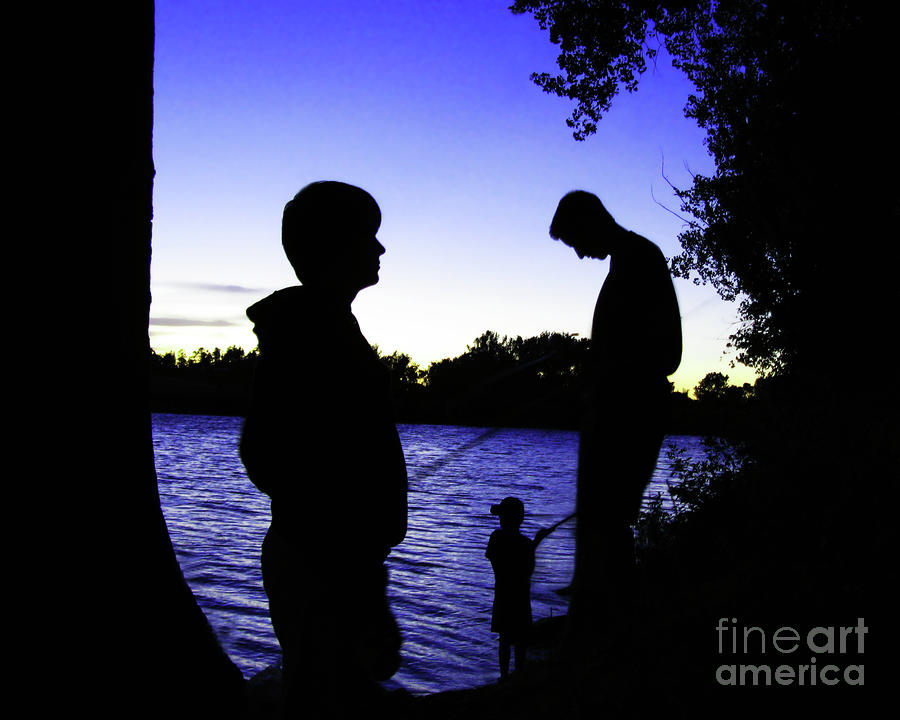 Fishin Buddies Photograph  - Fishin Buddies Fine Art Print