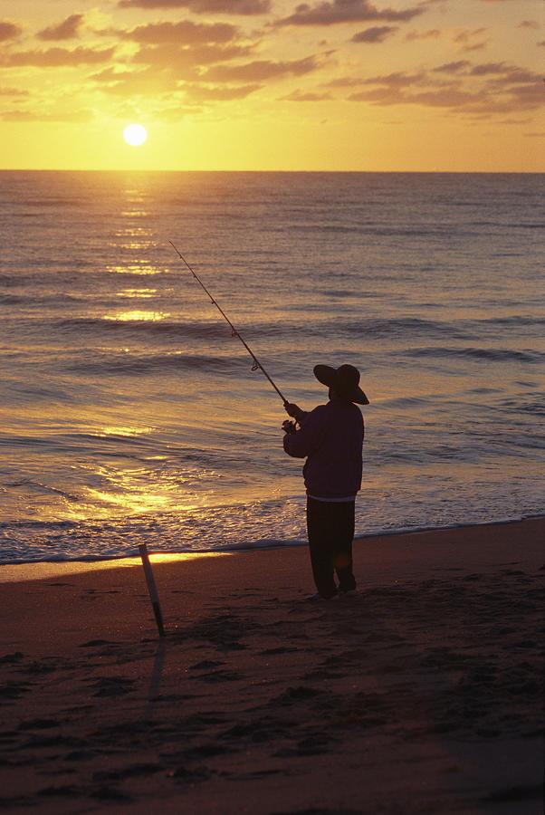 Fishing At Sunrise Photograph