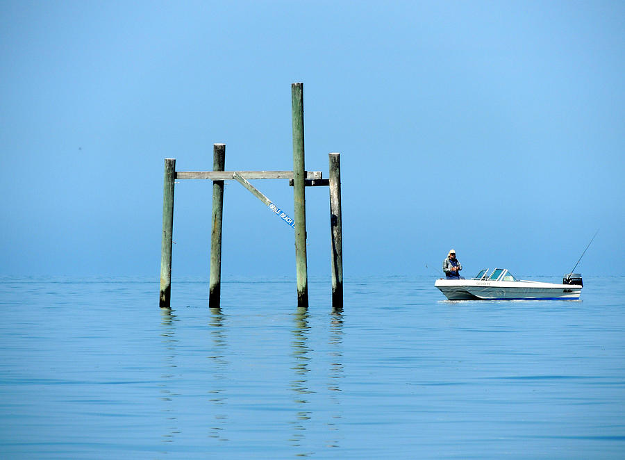 Fishing At The Bird Rack Photograph  - Fishing At The Bird Rack Fine Art Print