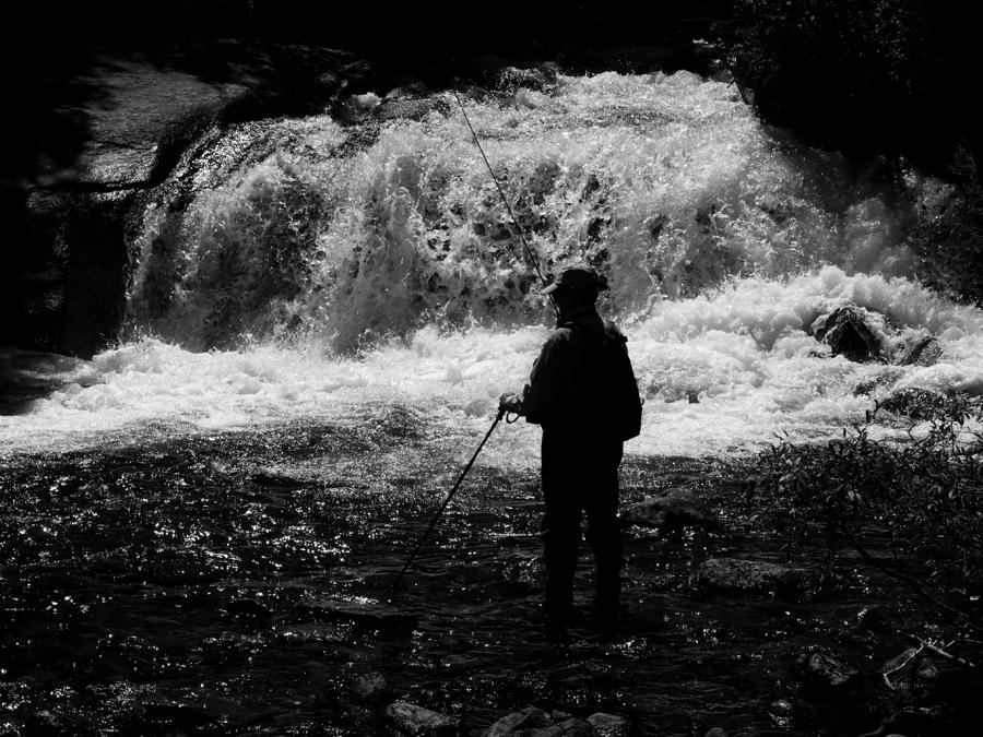 Fishing at the falls photograph by phil stone for Stone mountain fishing