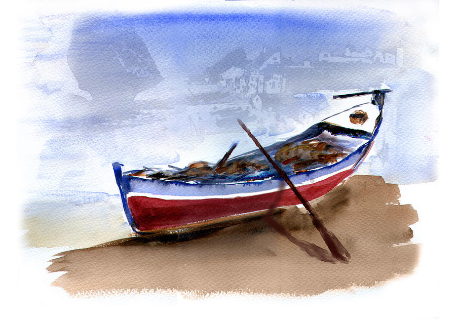Fishing Boat Painting  - Fishing Boat Fine Art Print