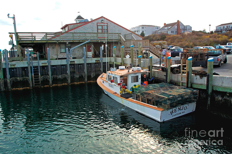 fishing boat at chatham fish pier by matt suess