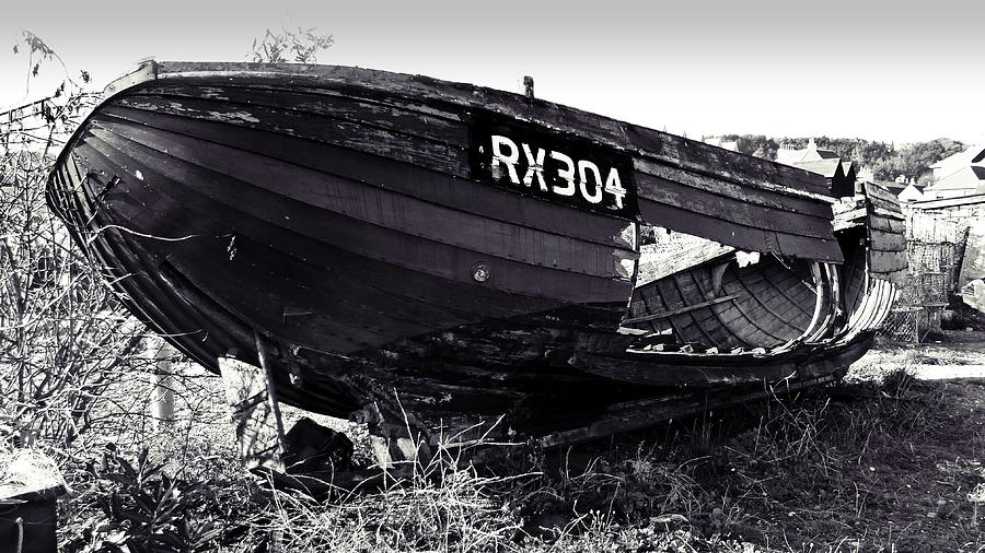 Fishing Boat Wreck Digital Art