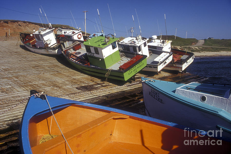 Fishing Boats - Magdalen Islands Photograph  - Fishing Boats - Magdalen Islands Fine Art Print