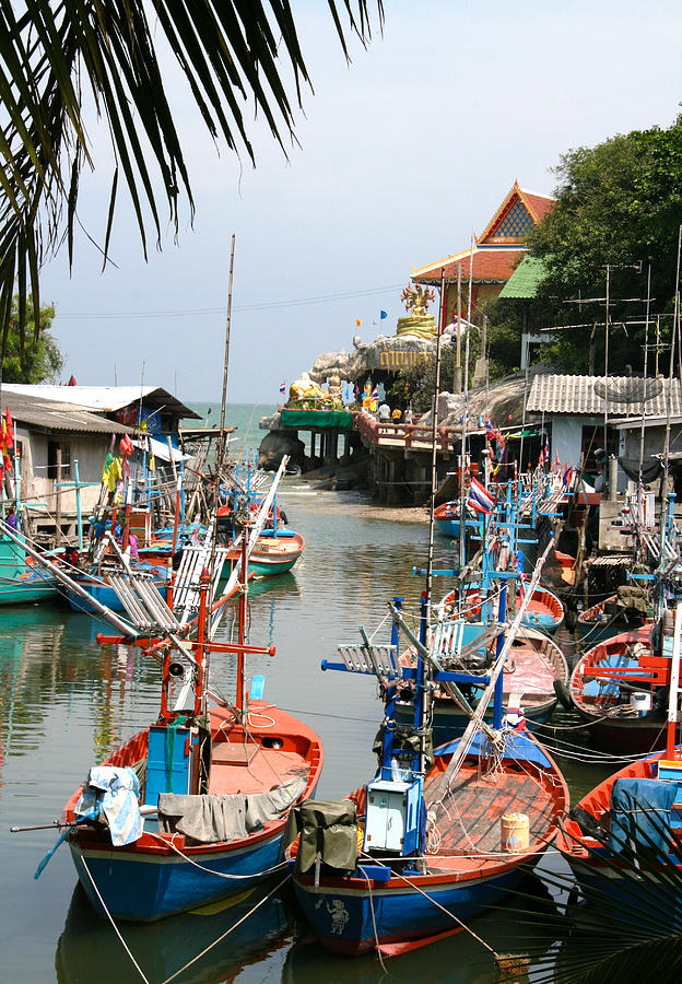 Temple Photograph - Fishing Boats by Adrian Evans