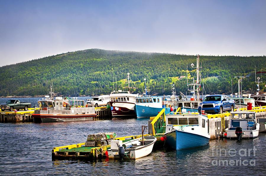 Fishing Boats In Newfoundland Photograph