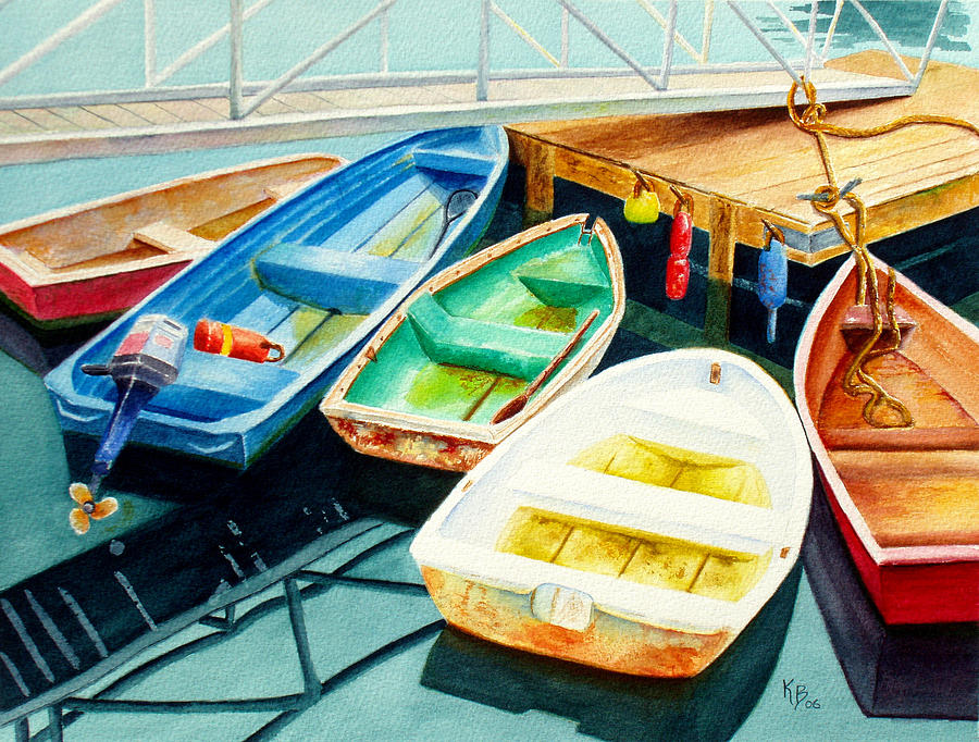 Fishing Boats Painting  - Fishing Boats Fine Art Print