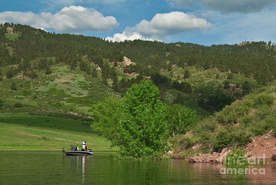 Fishing On Horsetooth Reservoir Photograph  - Fishing On Horsetooth Reservoir Fine Art Print