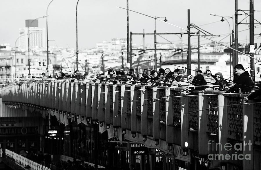 Fishing On The Galata Bridge Photograph