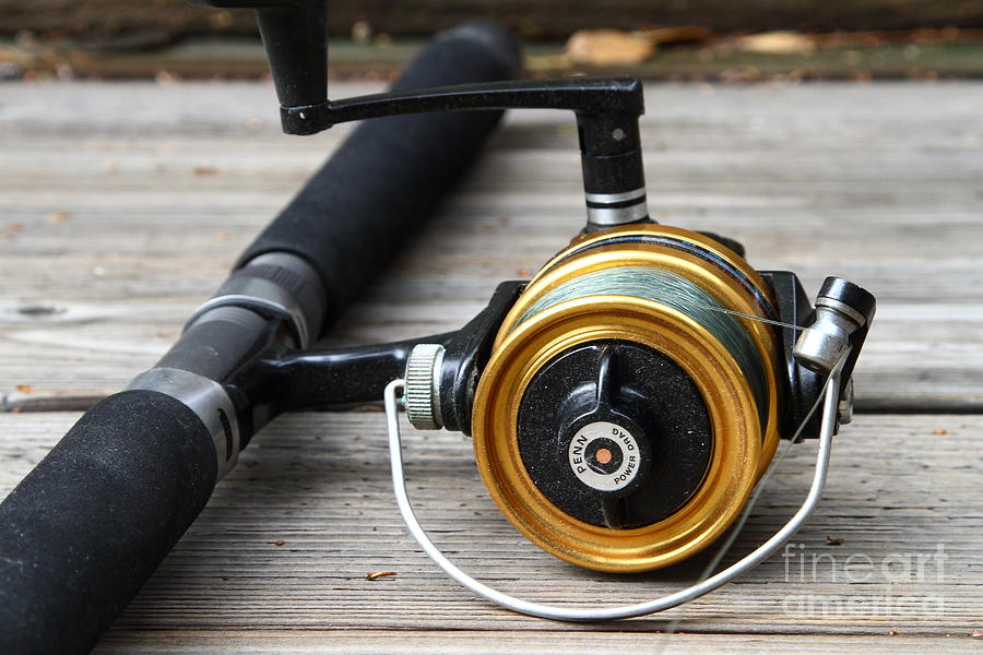 Fishing Rod And Reel . 7d13547 Photograph
