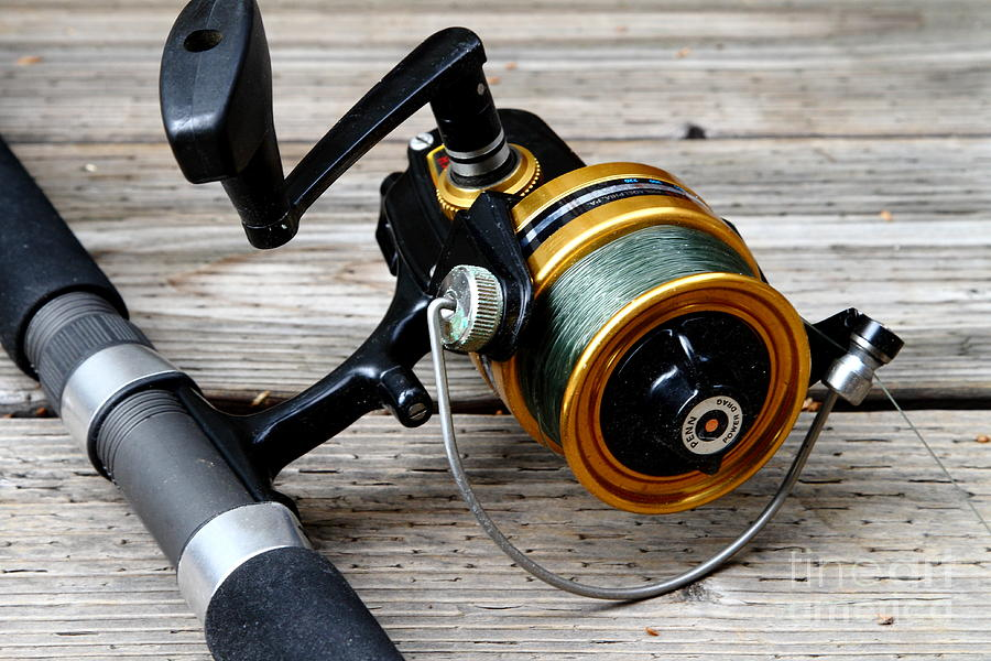 Fishing Rod And Reel . 7d13549 Photograph