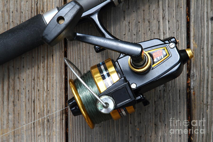 Fishing Rod And Reel . 7d13565 Photograph
