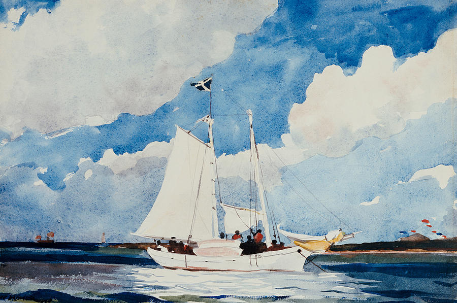 Fishing Schooner In Nassau Painting