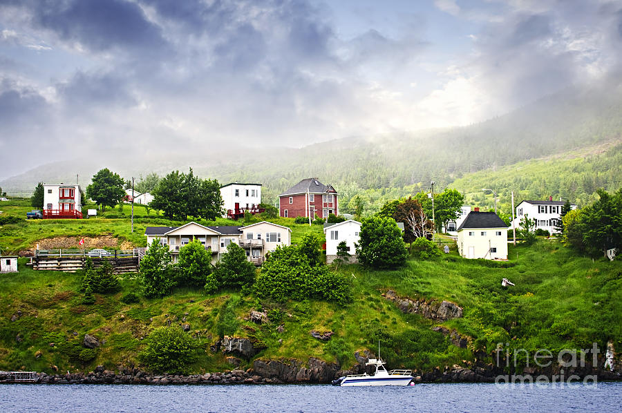 Fishing Village In Newfoundland Photograph  - Fishing Village In Newfoundland Fine Art Print