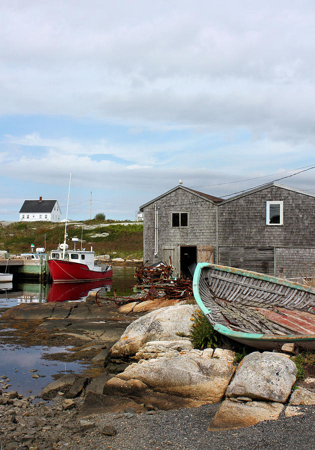 Peggys Point Photograph - Fishing Village In Nova Scotia by Kristin Elmquist