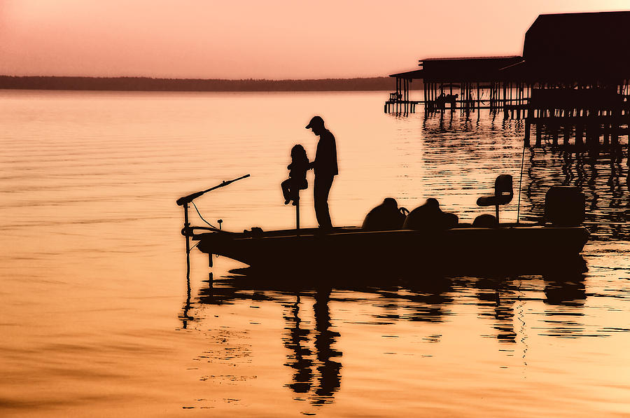 Fishing With Daddy Photograph  - Fishing With Daddy Fine Art Print