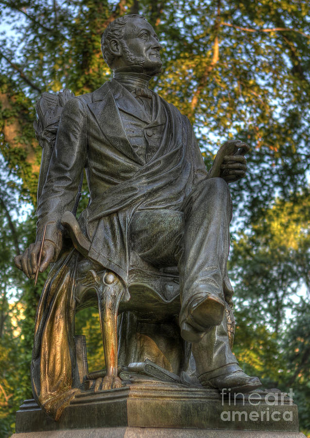 Fitz Greene Halleck In Central Park Photograph  - Fitz Greene Halleck In Central Park Fine Art Print
