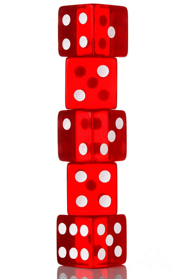 Five Dice Stack Photograph  - Five Dice Stack Fine Art Print