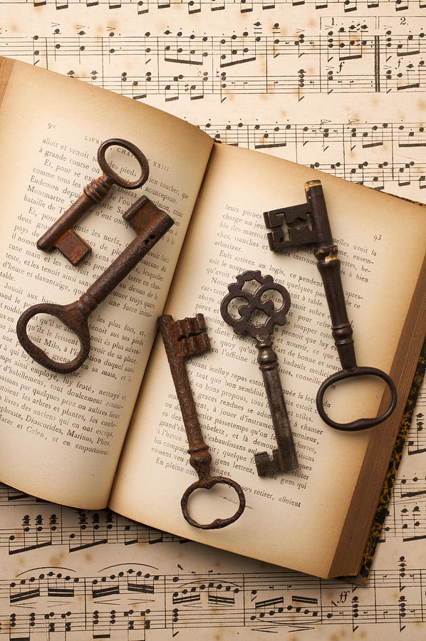 Five Old Keys Photograph