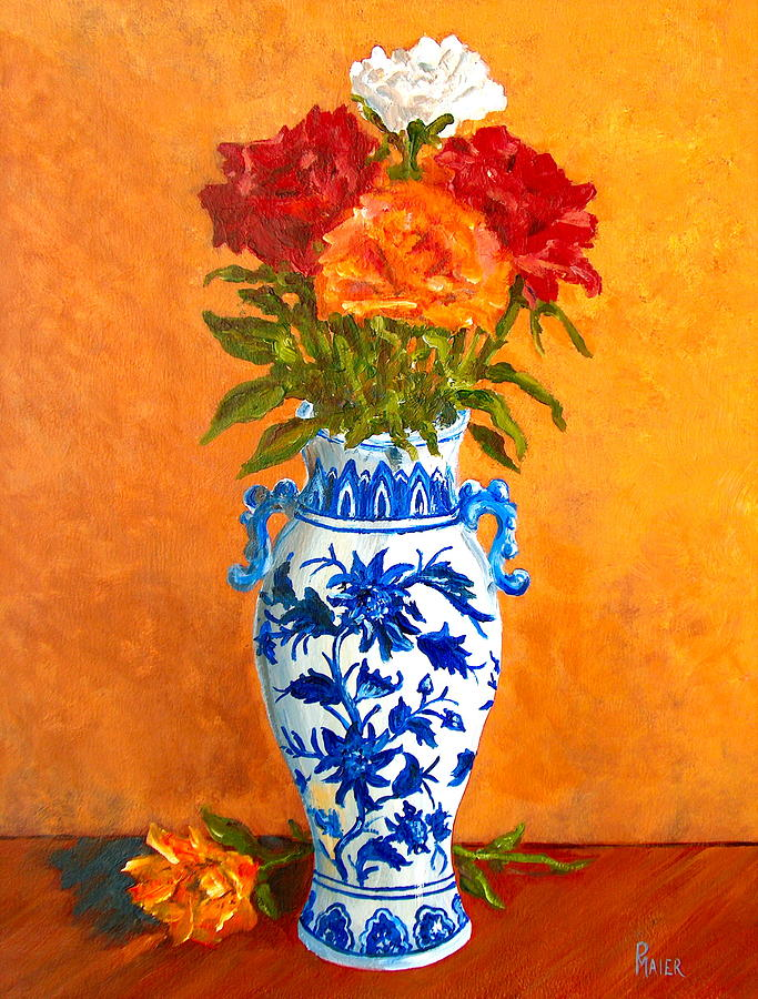 Five Roses II Painting  - Five Roses II Fine Art Print