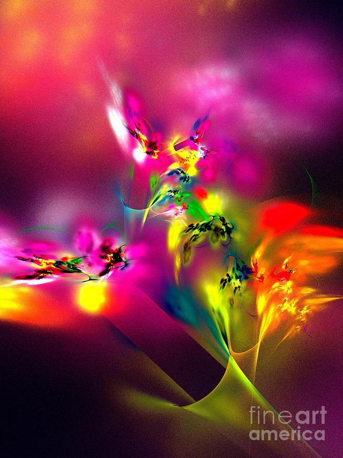 Flamboyant bouquet digital art by klara acel - Fine art america ...