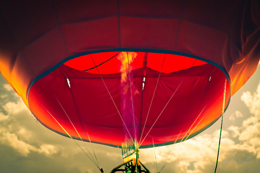 Flame On Hot Air Balloon Photograph  - Flame On Hot Air Balloon Fine Art Print
